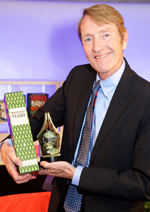 Lee Child with his award